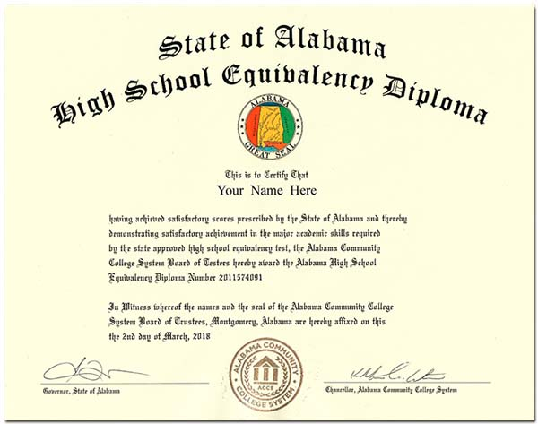 Fake Alabama GED
