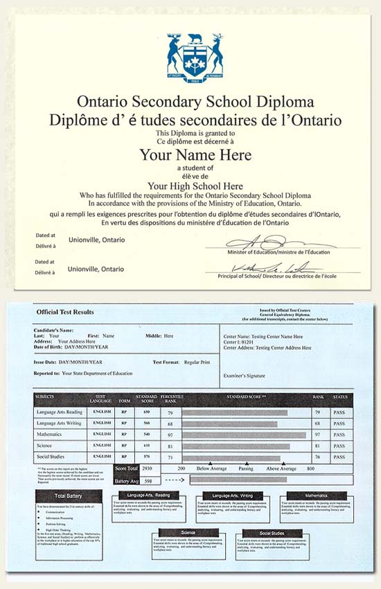 Canada Secondary Certificate - Click Image to Close