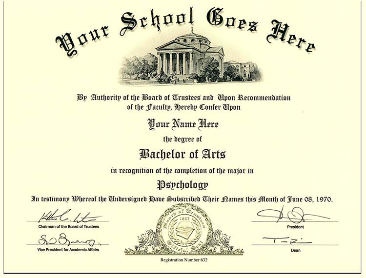 College Diploma Style 1