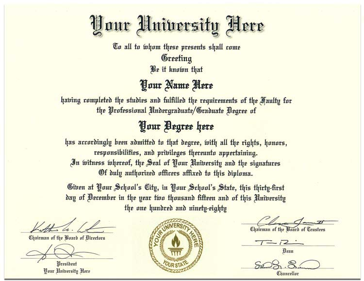 College Diploma Style 2