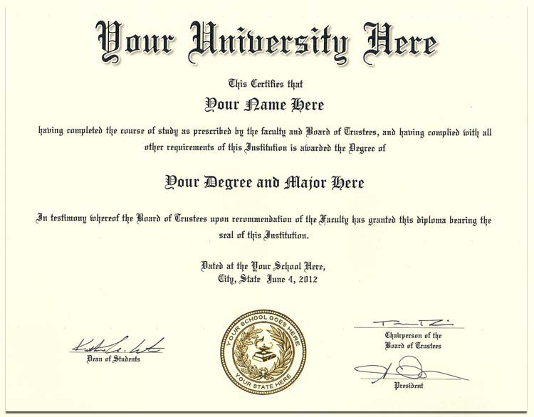 College Diploma Style 4