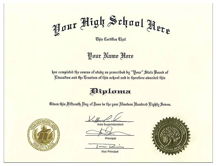 High School Diploma Style 8