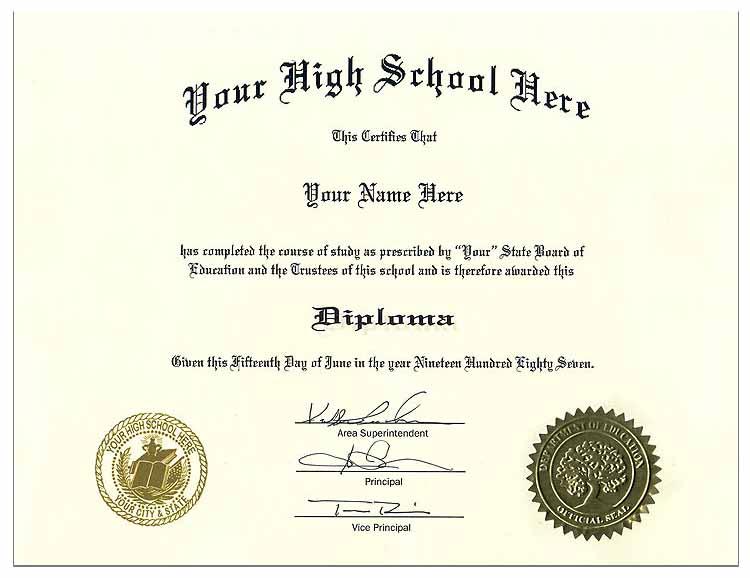 high school diploma style 8