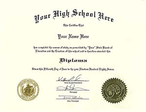 Fake Diplomas, Fake High School Diploma