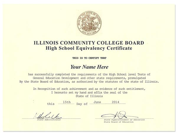 Fake Illinois GED