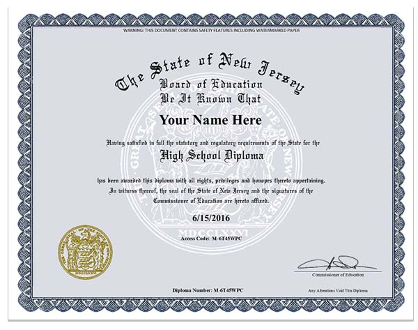 Fake New Jersey Ged Nj Ged 79 95 Fake Diplomas Fake