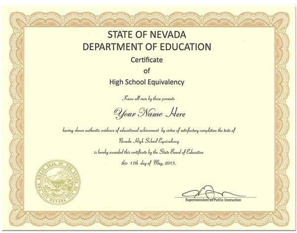 Fake Nevada GED