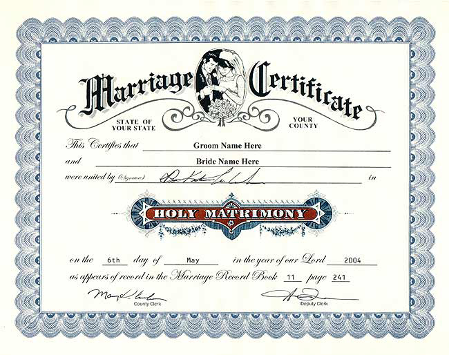 Fake marriage certificate marriage certificates marriage yadclub Choice Image