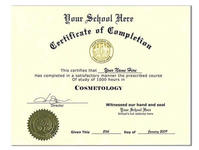 cosmetology certificate template fake diplomas fake ged certificates and fake transcripts