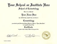Fake Diplomas, Fake Cosmetology Certificates